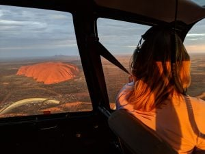 Flight over Uluru