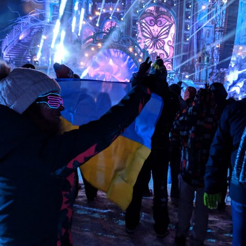 Ukrainian Flag at Tomorrowland Winter